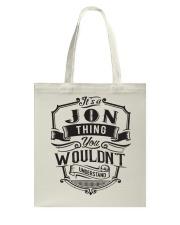 It's A Name Shirts - Jon  Tote Bag thumbnail