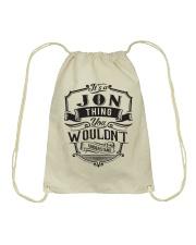 It's A Name Shirts - Jon  Drawstring Bag thumbnail