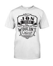 It's A Name Shirts - Jon  Classic T-Shirt thumbnail
