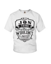 It's A Name Shirts - Jon  Youth T-Shirt thumbnail
