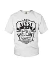 It's A Name Shirts - Alyse  Youth T-Shirt thumbnail
