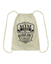 It's A Name Shirts - Alyse  Drawstring Bag thumbnail