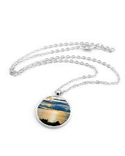 Sunrise Metallic Circle Necklace aos-necklace-circle-metallic-lifestyle-03