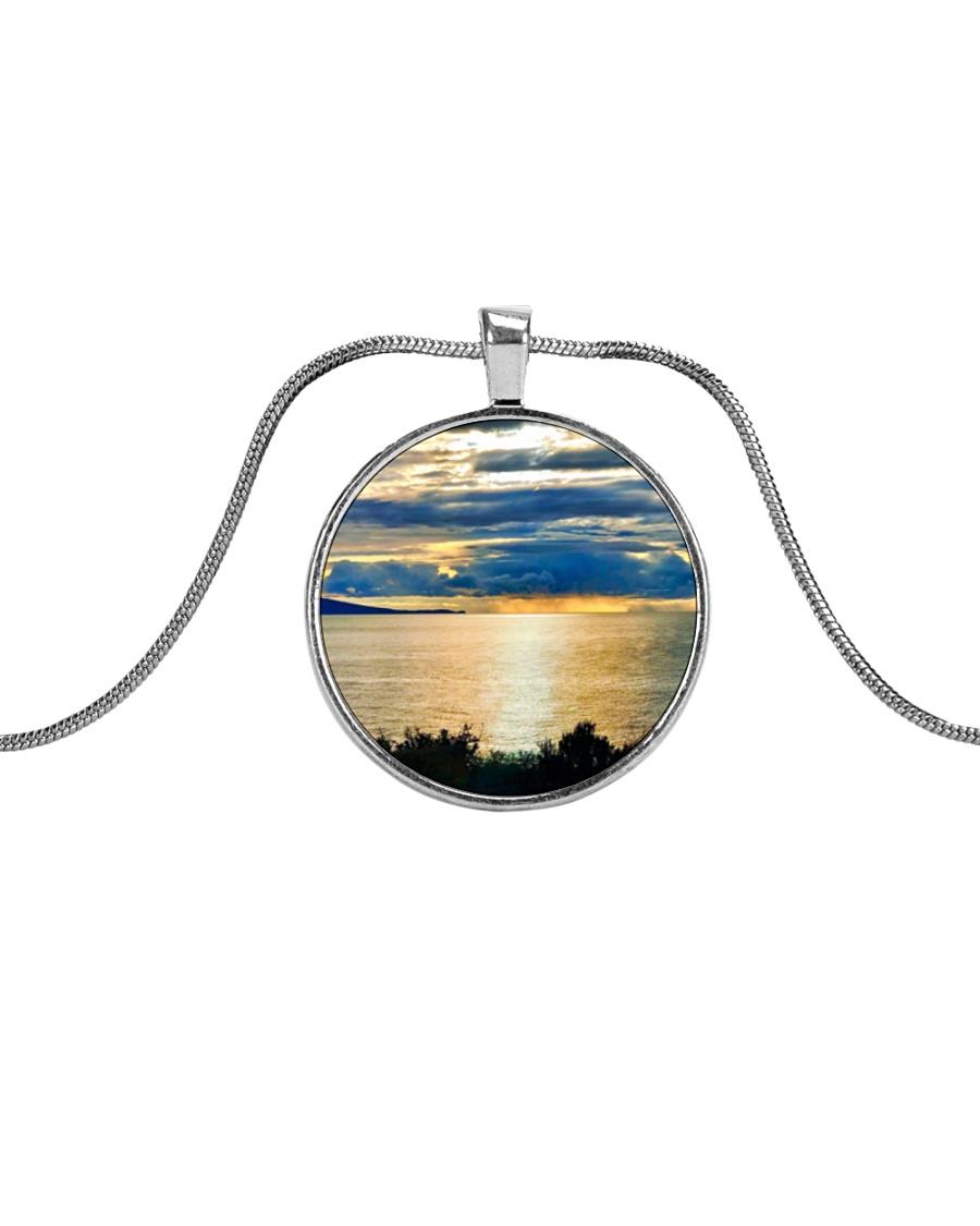 Sunrise Metallic Circle Necklace
