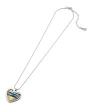 Sunrise Metallic Heart Necklace aos-necklace-heart-metallic-lifestyle-06