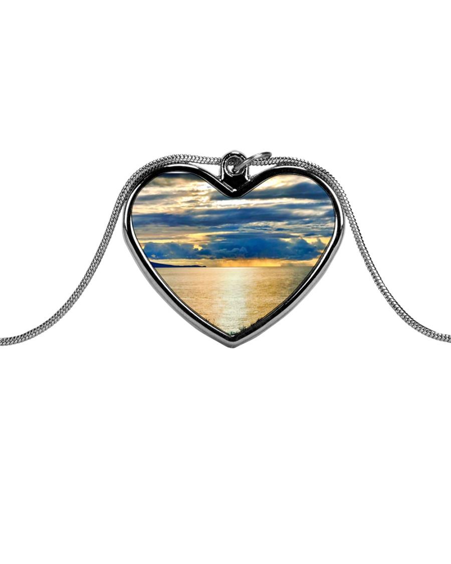 Sunrise Metallic Heart Necklace