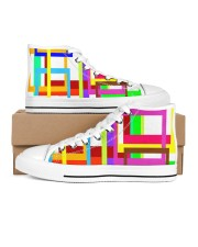 Psychedelic Women's High Top White Shoes thumbnail