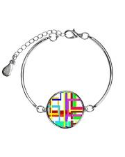 Psychedelic Metallic Circle Bracelet thumbnail