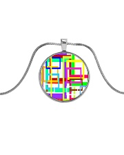 Psychedelic Metallic Circle Necklace tile