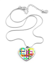Psychedelic Metallic Heart Necklace aos-necklace-heart-metallic-lifestyle-03