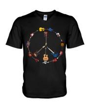Guitar Hippie V-Neck T-Shirt thumbnail
