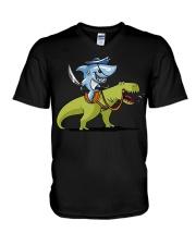 Funny Shark T-Shirts V-Neck T-Shirt thumbnail