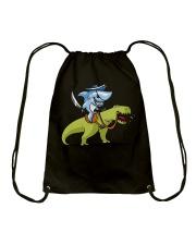 Funny Shark T-Shirts Drawstring Bag thumbnail
