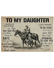 Daughter horse poster 24x16 Poster front