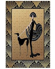 Greyhound with woman 11x17 Poster front