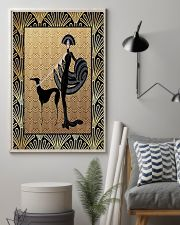 Greyhound with woman 11x17 Poster lifestyle-poster-1