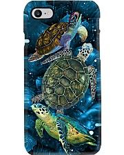 Sea turtle in deep sea Phone Case i-phone-8-case