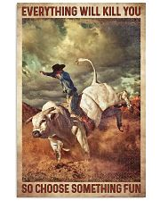 Bull Riding 16x24 Poster front