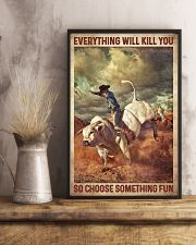 Bull Riding 16x24 Poster lifestyle-poster-3