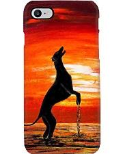 Greyhound sunset Phone Case i-phone-8-case