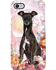 Greyhound Pink Flower Phone case Phone Case i-phone-8-case
