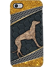 Greyhound gold pattern Phone Case i-phone-7-case