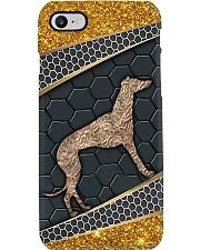 Greyhound gold pattern Phone Case i-phone-8-case