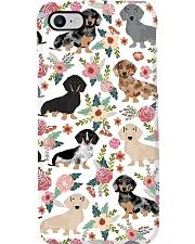 Dachshund flower Phone Case i-phone-7-case