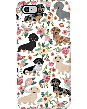 Dachshund flower Phone Case i-phone-8-case