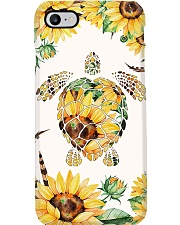 Turtle yellow flowers Phone Case i-phone-7-case