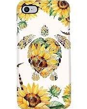 Turtle yellow flowers Phone Case i-phone-8-case