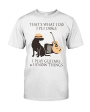 GUITAR and DOG Classic T-Shirt thumbnail