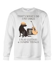 GUITAR and DOG Crewneck Sweatshirt thumbnail