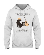 GUITAR and DOG Hooded Sweatshirt front