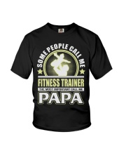 CALL ME FITNESS TRAINER PAPA JOB SHIRTS Youth T-Shirt thumbnail
