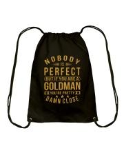NOBODY PERFECT GOLDMAN NAME SHIRTS Drawstring Bag thumbnail