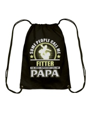 CALL ME FITTER PAPA JOB SHIRTS Drawstring Bag thumbnail