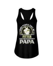 CALL ME FITTER PAPA JOB SHIRTS Ladies Flowy Tank thumbnail