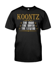KOONTZ THE MAN THE LEGEND SHIRTS Premium Fit Mens Tee thumbnail