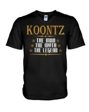 KOONTZ THE MAN THE LEGEND SHIRTS V-Neck T-Shirt thumbnail