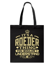 ROEDER THING GOLD SHIRTS Tote Bag thumbnail