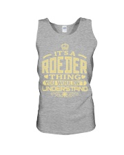 ROEDER THING GOLD SHIRTS Unisex Tank thumbnail
