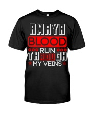 AMAYA Blood Run Through My Veins Classic T-Shirt thumbnail