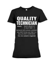 HOODIE QUALITY TECHNICIAN Premium Fit Ladies Tee thumbnail