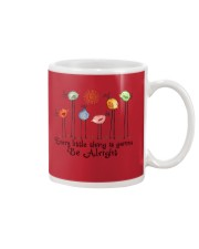 Every Little things will be alright peace Mug tile