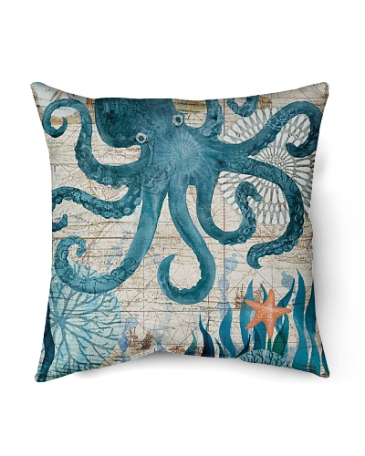 Letibee Octopus Nautical Pillow