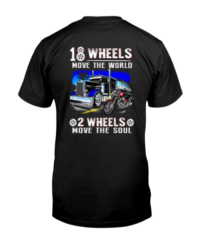 two wheels and eighteen wheels