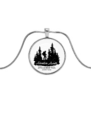 Appalachian Trail Adventures Metallic Circle Necklace front