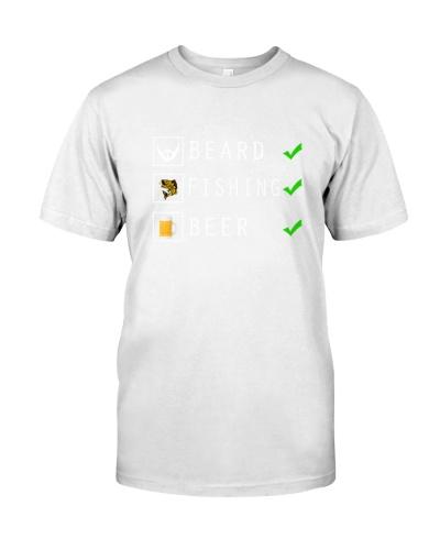 Mens Beard Fishing Beer Checklist