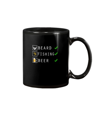 Mens Beard Fishing Beer Checklist